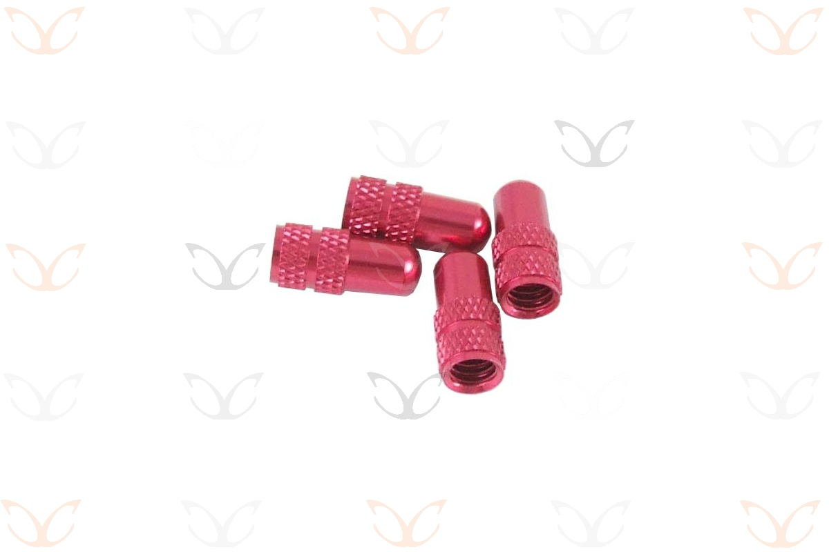 4-x-eXotic-Anodized-Alloy-Presta-Valve-Caps-thin-valve-aka-French-not-car-type